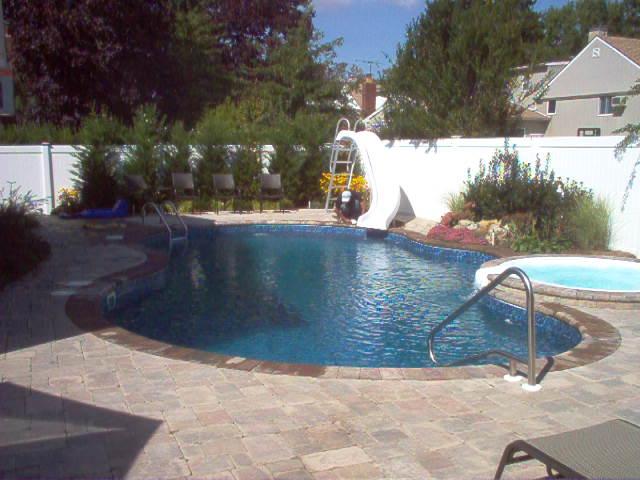 Inground Pool With Spillover Spa Longislandswim