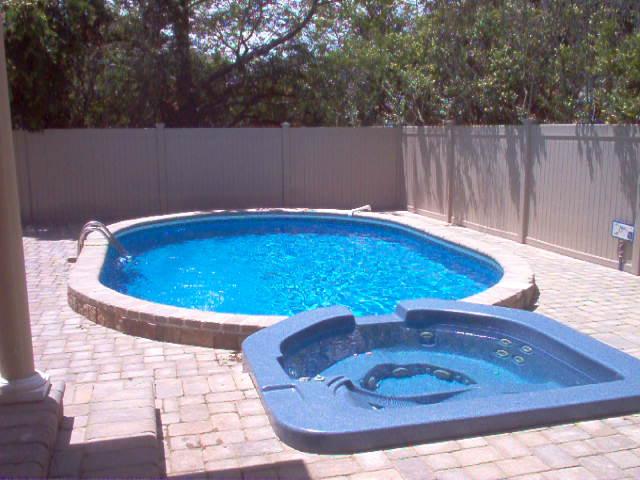 Spilloverspa Attached To Semi Inground Pool Longislandswim
